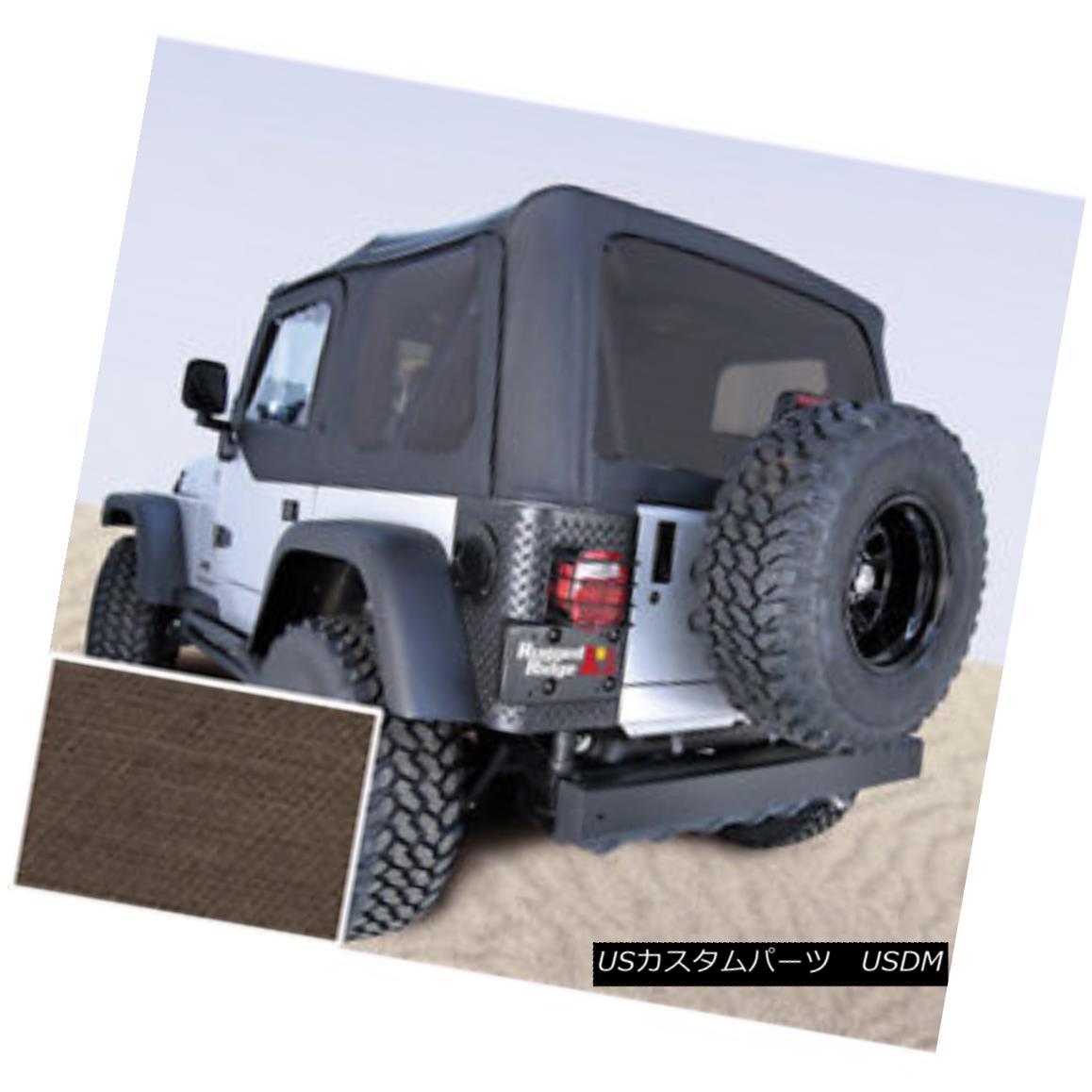 幌・ソフトトップ Rugged Ridge 13730.36 XHD Soft Top Khaki Tinted Window 97-06 Jeep Wrangler Rugged Ridge 13730.36 XHDソフトトップカーキティンテッドウィンドウ97-06ジープラングラー