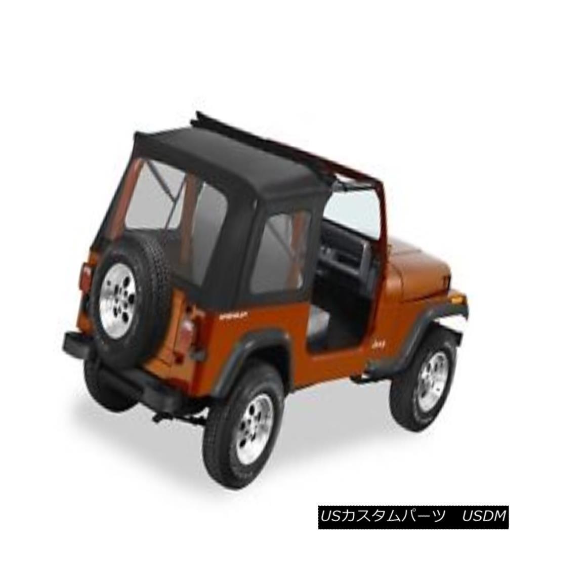 幌・ソフトトップ Bestop 51698-15 Jeep Sunrider Complete Replacement Soft Top Black Denim ベストプライス51698-15 Jeepサンライダー、交換用ソフトトップブラックデニム