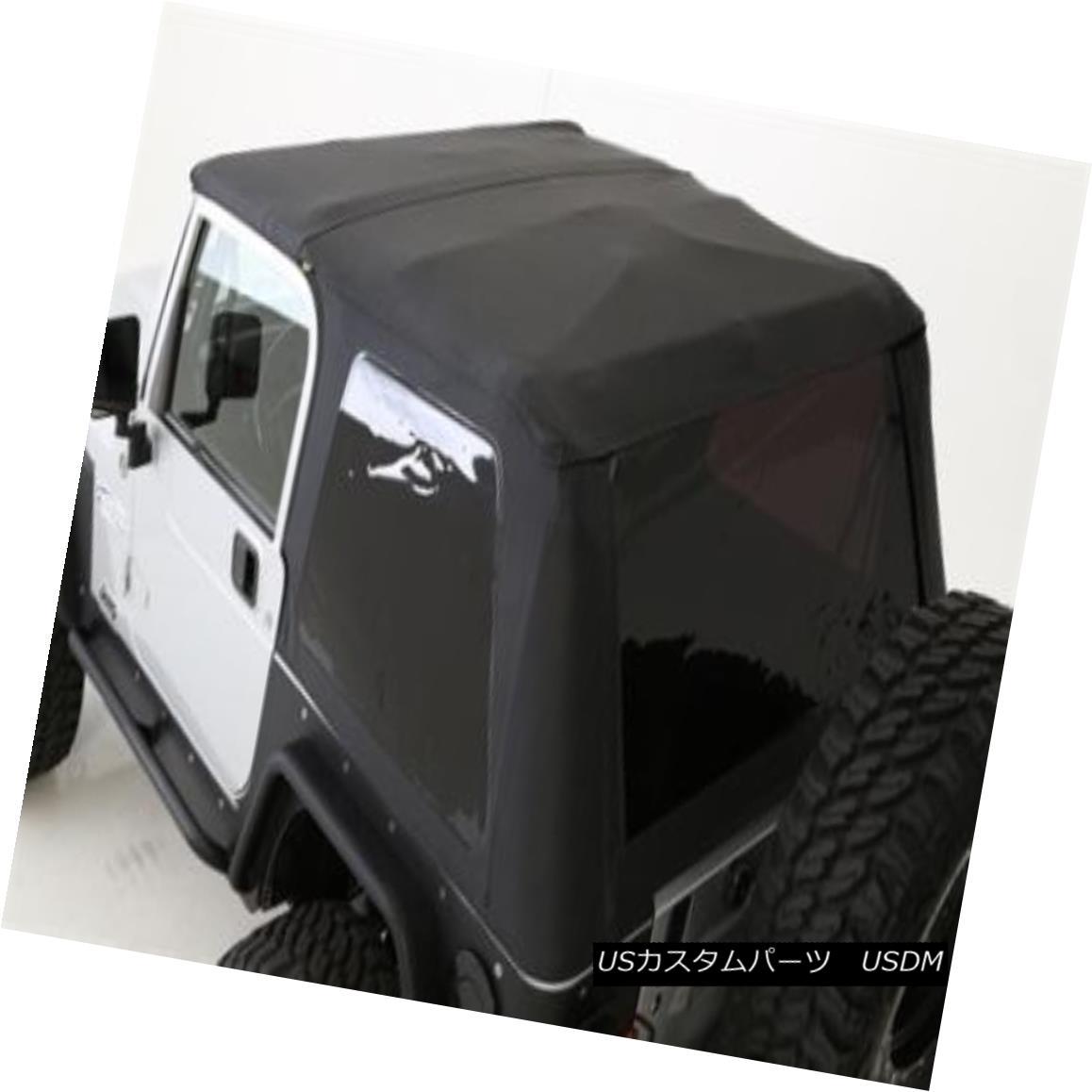 幌・ソフトトップ Jeep Wrangler TJ Bowless Soft Top Combo 97-06 OE Replacement Black 9973235 ジープラングラーTJボウレスソフトトップコンボ97-06 OE交換用ブラック9973235
