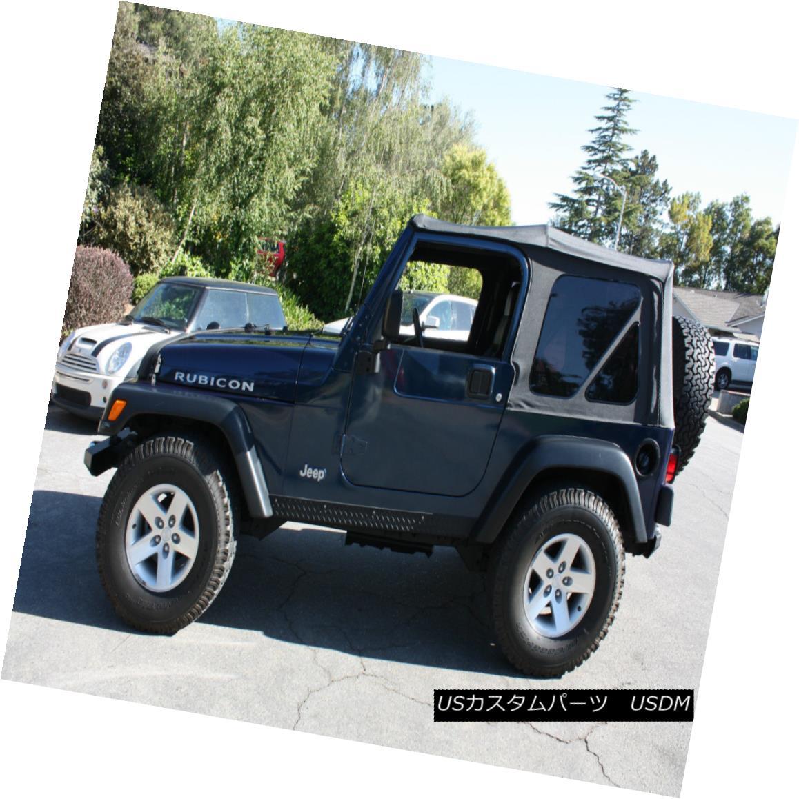 幌・ソフトトップ 1997-2006 Jeep Wrangler Soft Top Replacement Canvas & Tinted Rear Windows SALE! 1997-2006ジープラングラーソフトトップ交換キャンバス& ティンテッドリアWindows SALE!