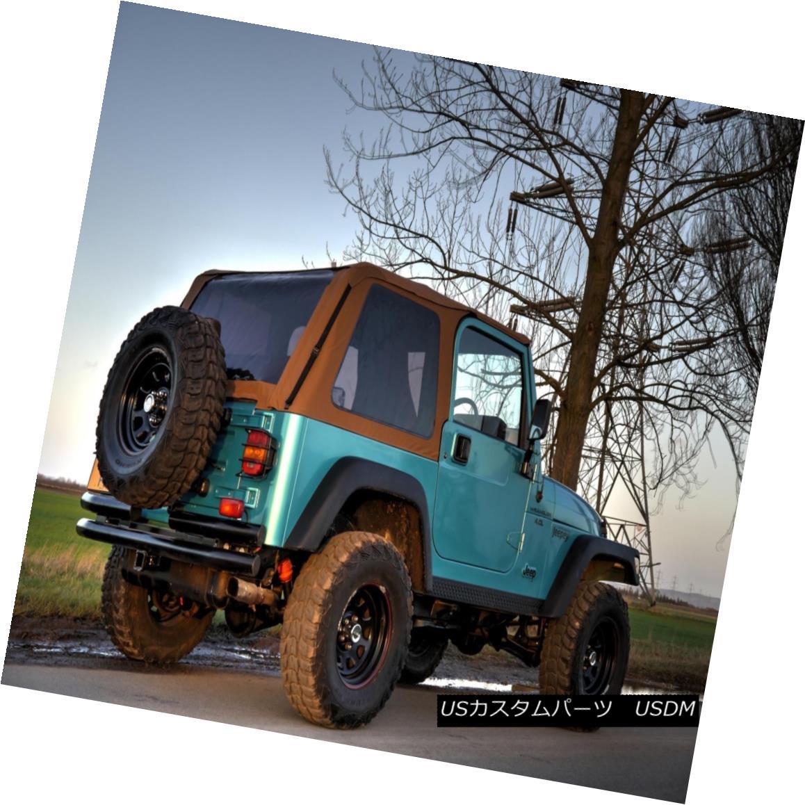幌・ソフトトップ 1997-2006 Jeep Wrangler Bowless Soft Top Kit with Tinted Windows in Spice 1997年?2006年ジープ・ラングラー・ボウレスソフトトップキット(香辛料入り)
