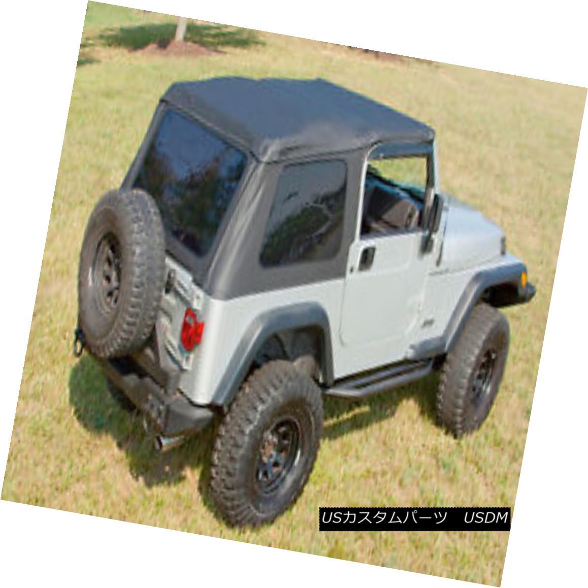 幌・ソフトトップ Black Diamond Bowless XHD Soft Top Jeep Wrangler TJ 97-06 13751.33 Rugged Ridge ブラックダイヤモンドボウレスXHDソフトトップジープラングラーTJ 97-06 13751.33頑丈なリッジ