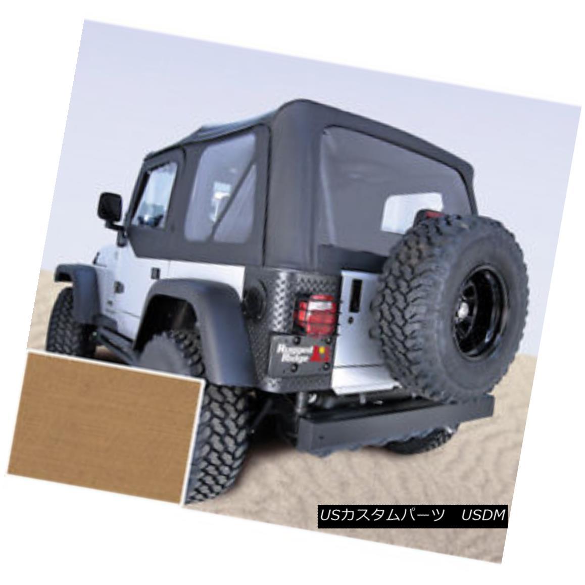 幌・ソフトトップ Rugged Ridge 13705.37 Soft Top Spice Clear Windows 97-02 Jeep Wrangler 頑丈なリッジ13705.37ソフトトップスパイスクリアWindows 97-02ジープラングラー