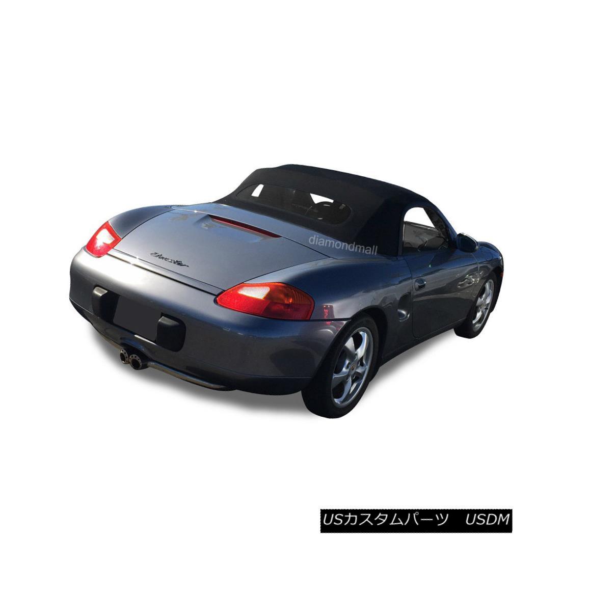 幌・ソフトトップ Porsche Boxster 1997-02 Convertible Soft Top & Heated Glass Window Black STF Porsche Boxster 1997-02コンバーチブルソフトトップ& 加熱ガラス窓ブラックSTF
