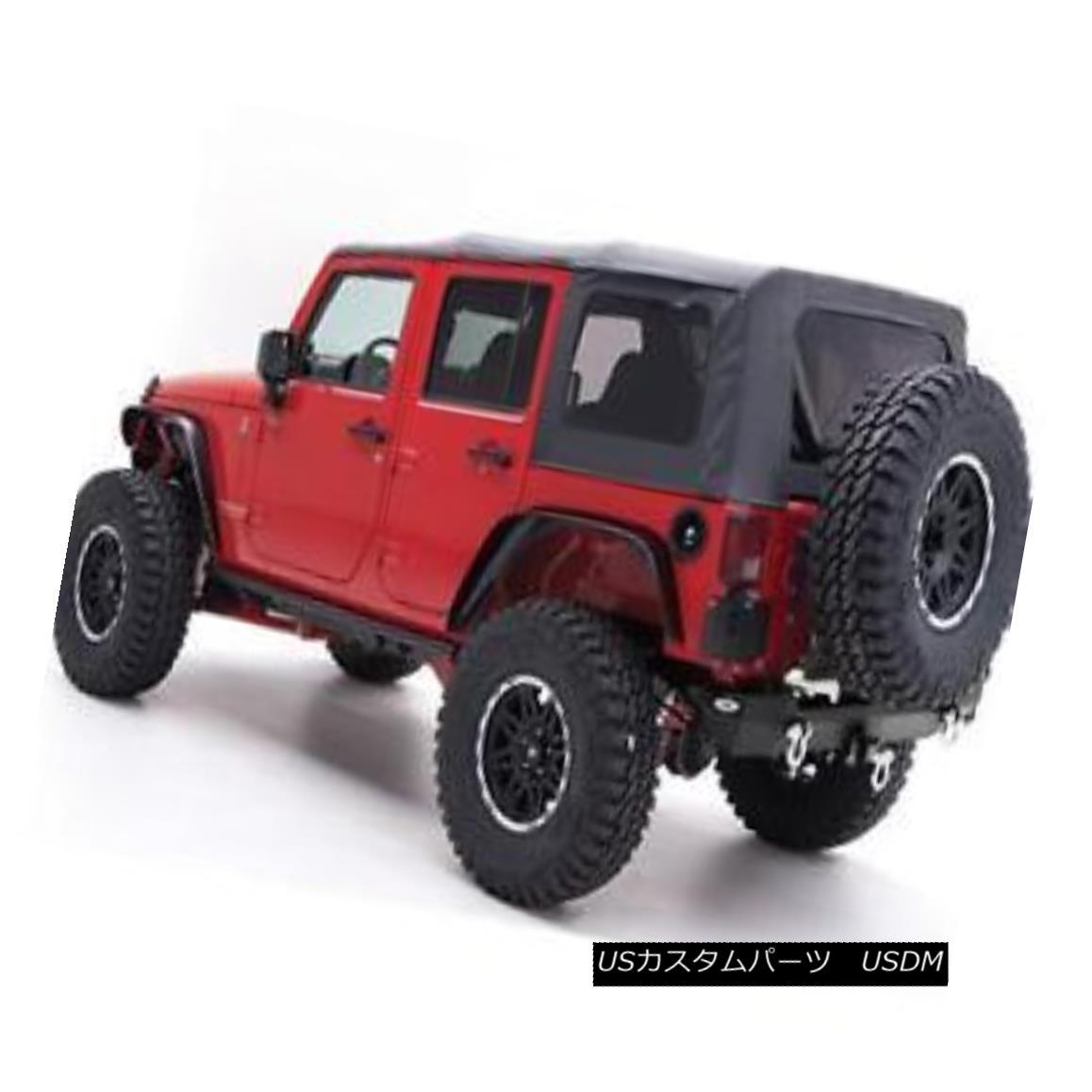 幌・ソフトトップ 2007-2009 Jeep Wrangler Unlimited Replacement Soft Top with Tinted Rear Windows 2007年 - 2009年ジープラングラー無制限交換ソフトトップティント付き後部窓付き