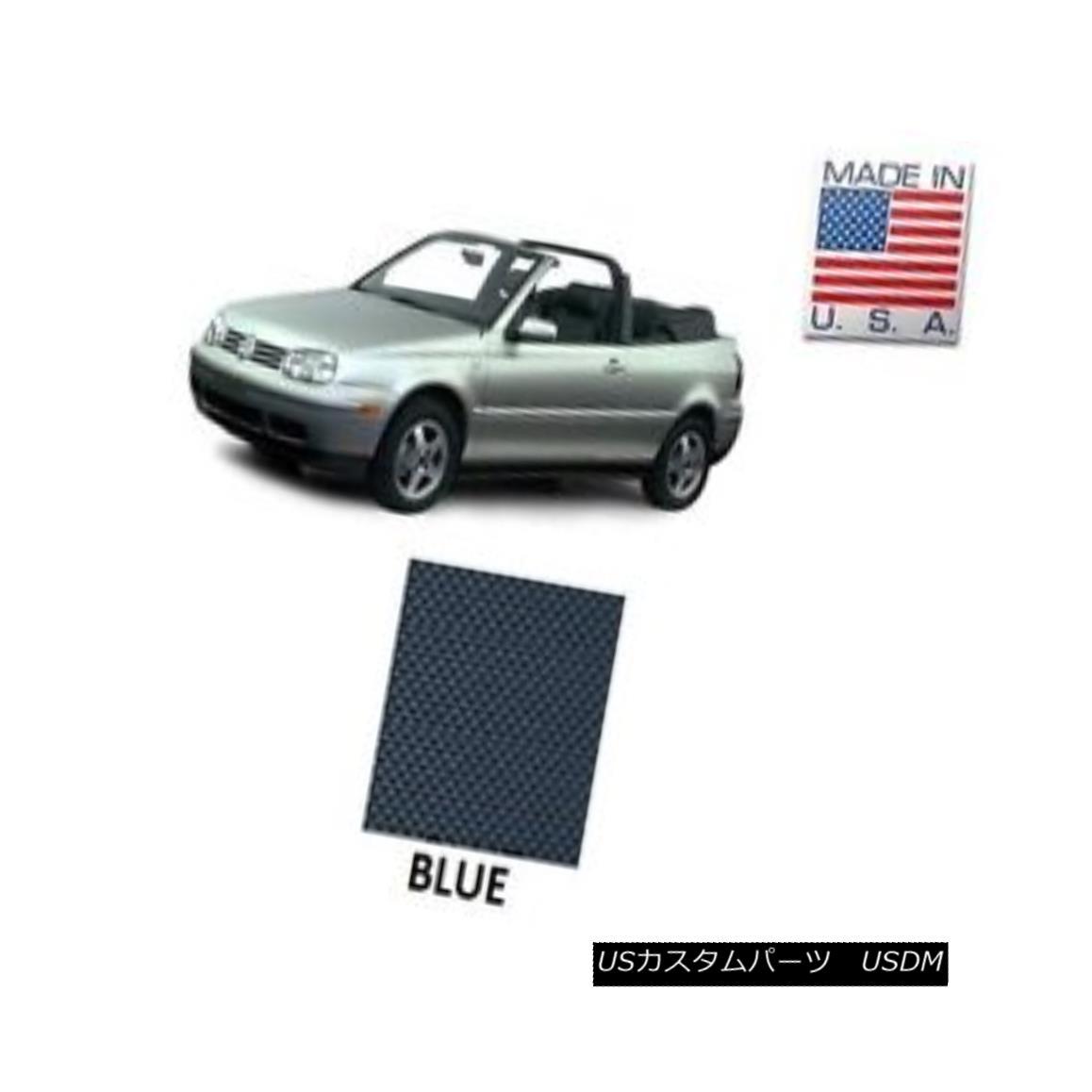 幌・ソフトトップ VW Volkswagen Golf Cabrio Cabriolet 1995-2001 Convertible Soft Top BLUE Vinyl VWフォルクスワーゲンゴルフCabrio Cabriolet 1995-2001コンバーチブルソフトトップBLUE Vinyl