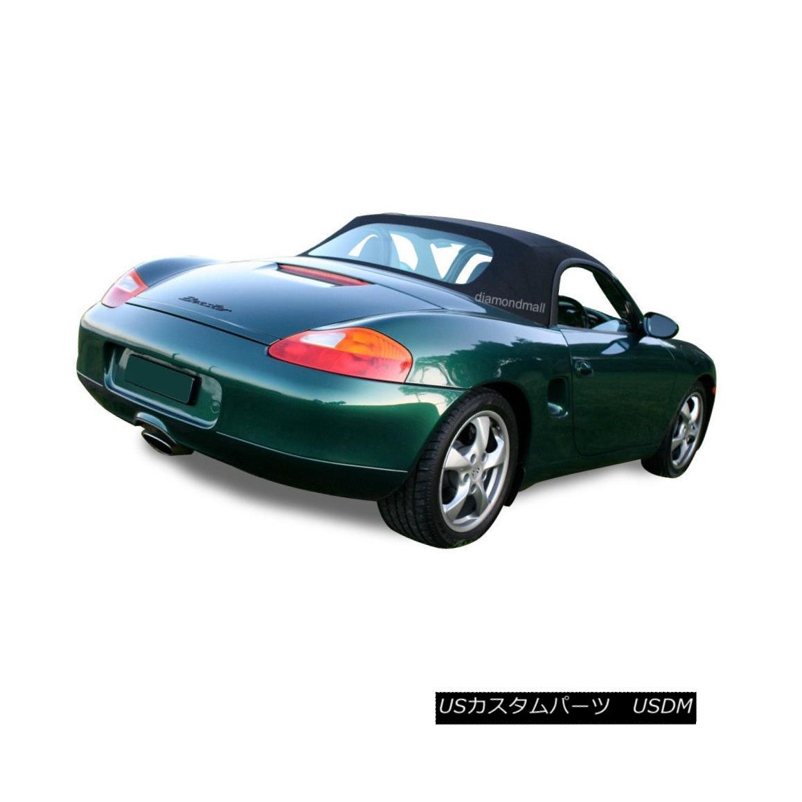 幌・ソフトトップ Porsche Boxster 986 Convertible Soft Top Replacement 1997-2002 Black Stayfast ポルシェボクスター986コンバーチブルソフトトップ交換1997-2002ブラックステイファスト