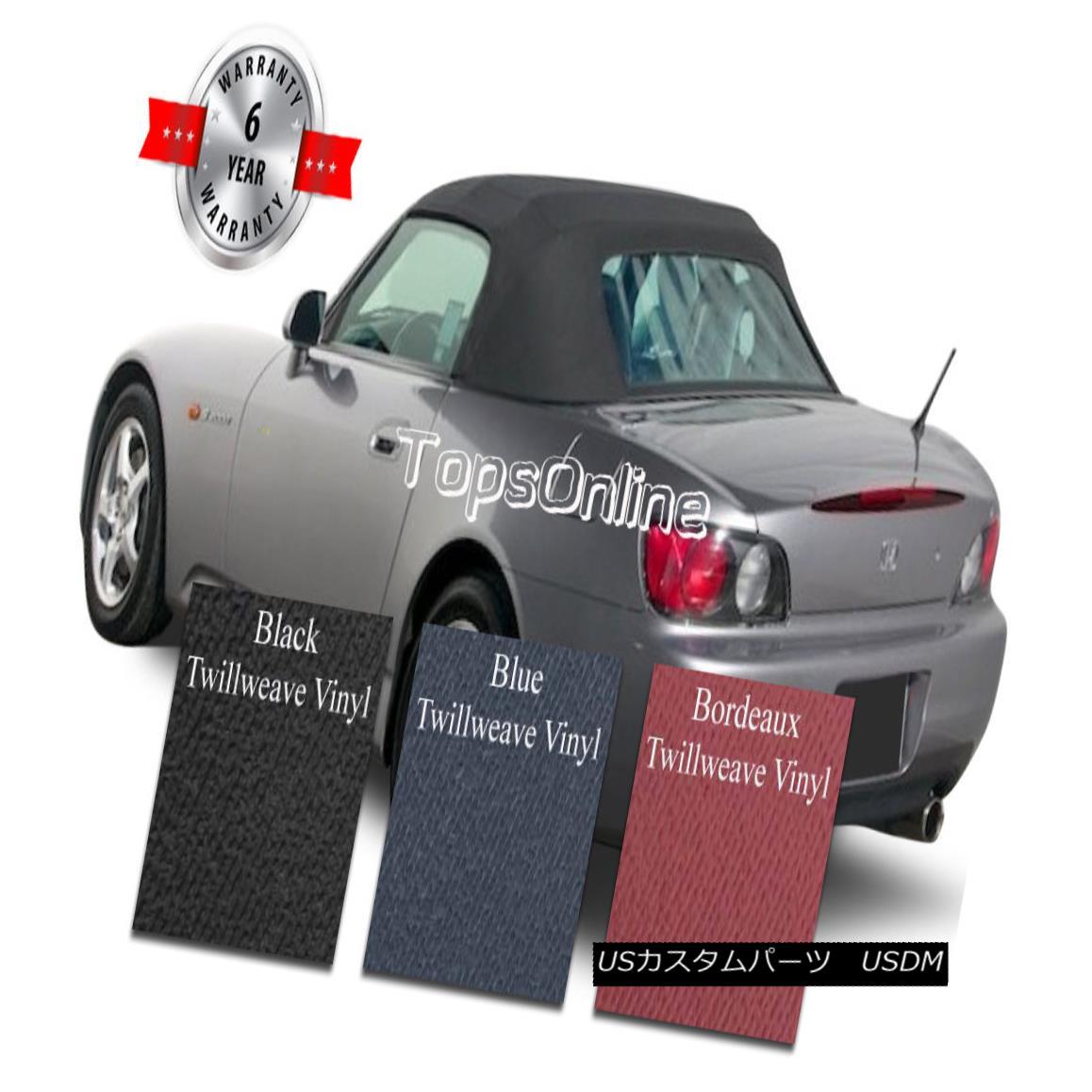 幌・ソフトトップ Honda S2000 Convertible Soft Top W/Plastic Window & Video, Twillweave 99-01 AP1 ホンダS2000コンバーチブルソフトトップW /プラスチック窓& ビデオ、Twillweave 99-01 AP1