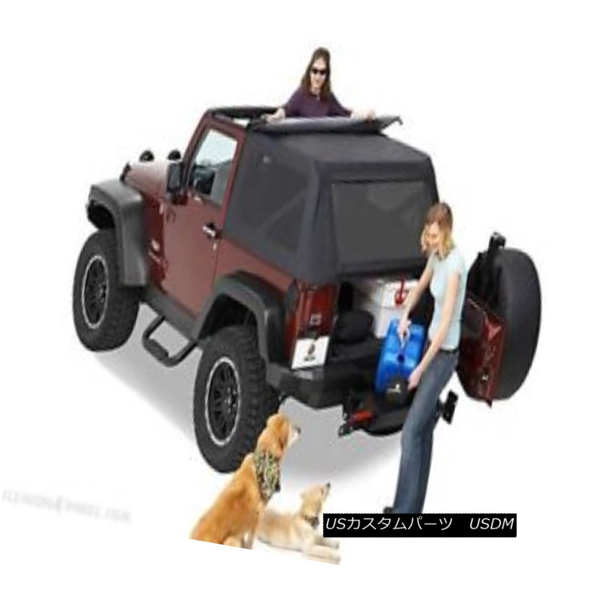 幌・ソフトトップ Bestop 56804-35 Jeep Trektop Complete Replacement Soft Top Black Diamond Bestop 56804-35ジープトレームトップ完全交換用ソフトトップブラックダイヤモンド