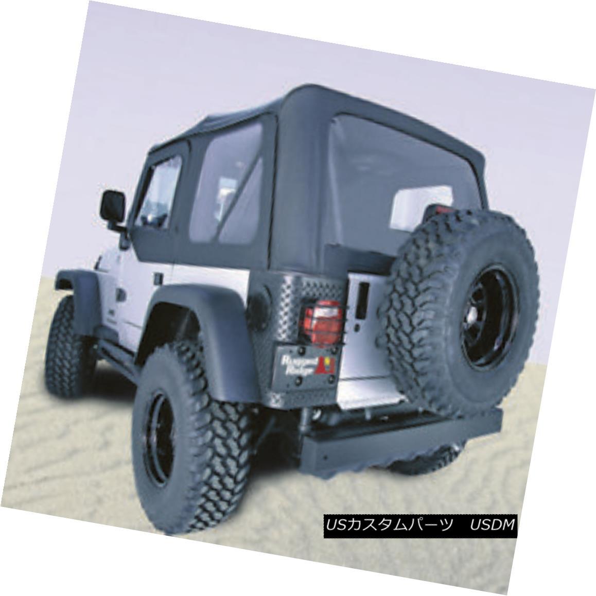 幌・ソフトトップ Rugged Ridge 13724.35 XHD Soft Top Black Diamond Tinted Windows Jeep Wrangler Rugged Ridge 13724.35 XHDソフトトップブラックダイヤモンドティンテッドWindowsジープラングラー