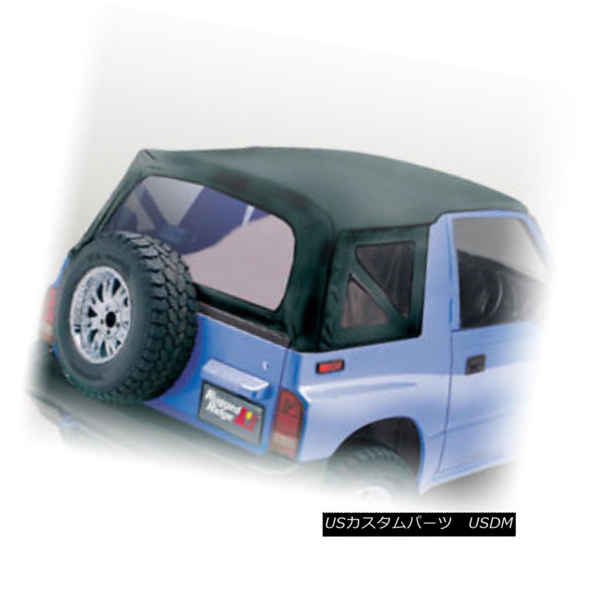 幌・ソフトトップ Rugged Ridge 53702.15 Soft Top Black Denim Clear Windows 88-94 Suzuki Sidekicks Rugged Ridge 53702.15ソフトトップブラックデニムクリアウィンドウ88-94スズキサイドキックス