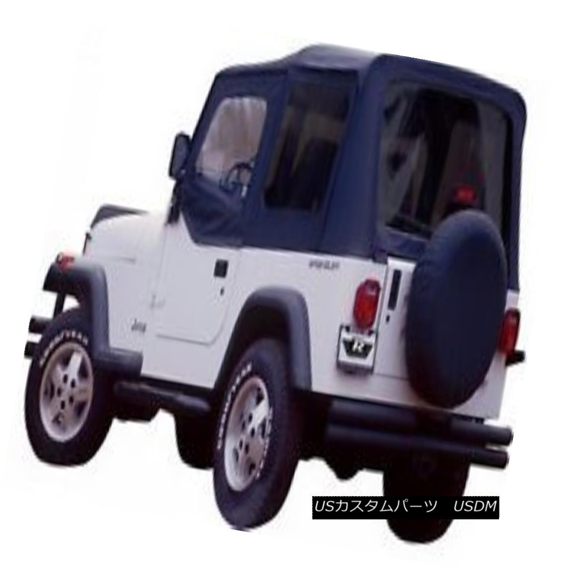 幌・ソフトトップ Rampage 68215 Complete Soft Top Kit Fits 87-95 Wrangler (YJ) 暴走68215完全なソフトトップキット87-95ラングラー(YJ)に適合