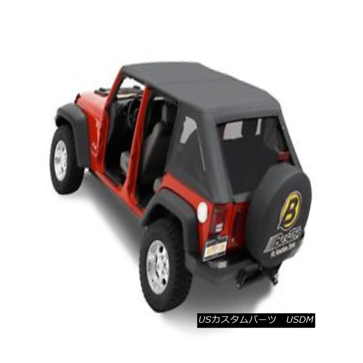 幌・ソフトトップ Bestop 56805-35 Jeep Trektop Complete Replacement Soft Top Black Diamond Bestop 56805-35 Jeep Trektop完全な交換ソフトトップブラックダイヤモンド