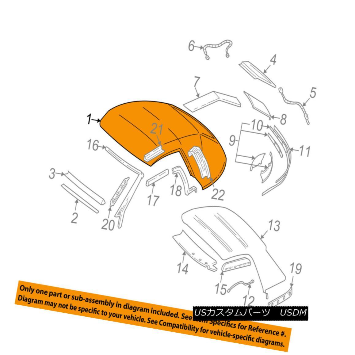 幌・ソフトトップ GM OEM Convertible/soft Top-Top Cover 10282821 GMのOEMコンバーチブル/ so ftトップトップカバー10282821