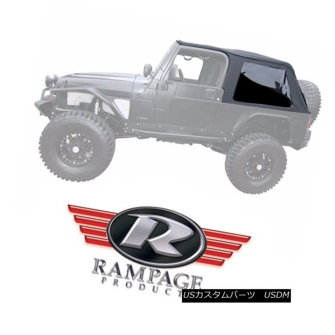 幌・ソフトトップ Rampage Frameless Trail Top w/ Tint fits 04-06 Jeep Wrangler LJ Unlimited 109635 ランペイジ・フレームレス・トレイル・トップ(ティント・フィット)04-06ジープ・ラングラーLJアンリミテッド109635