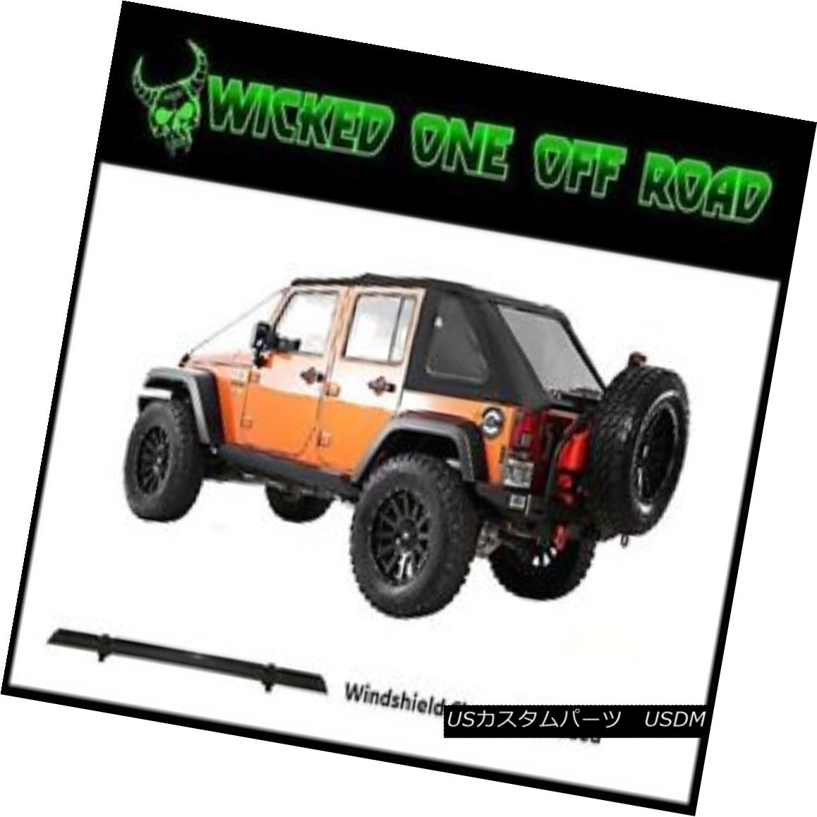 幌・ソフトトップ Smittybilt Bowless Combo Replacement Soft Top for 07-17 Jeep JK Wrangler (4-dr) Smittybilt Bowless Combo Replacementソフトトップ - 07-17ジープJK Wrangler(4-dr)