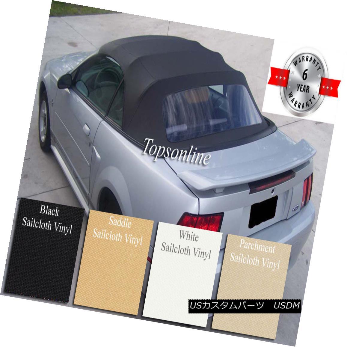幌・ソフトトップ Ford Mustang Convertible Soft Top With Plastic Window & Video Sailcloth 1994-04 フォード・マスタング・コンバーチブル・ソフト・トップ(プラスチック・ウインドウ& Video Sailcloth 1994-04