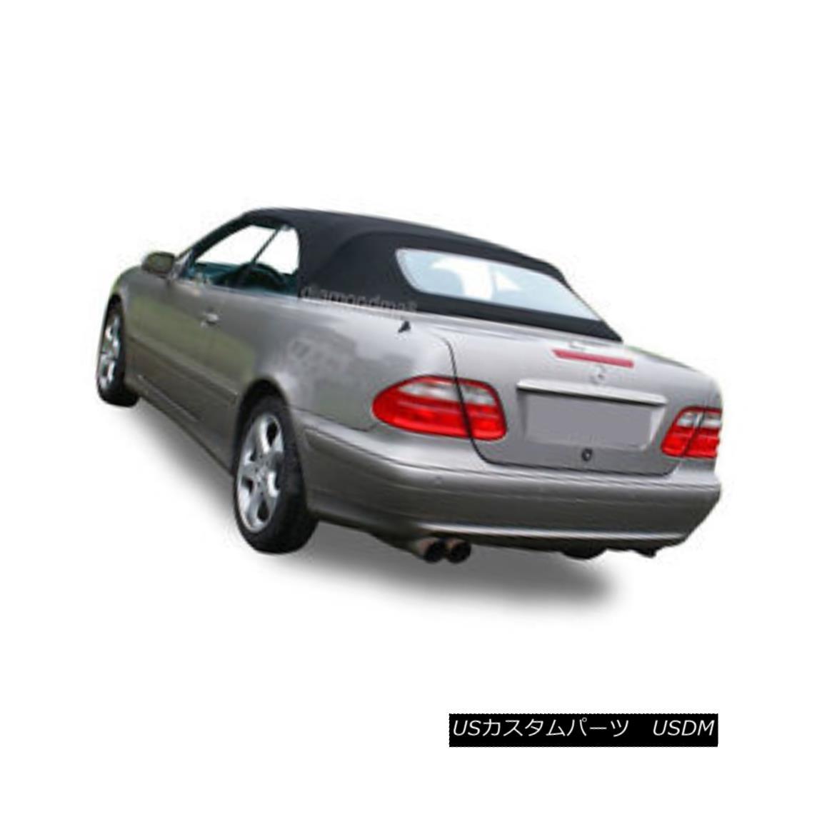 幌・ソフトトップ NEW Mercedes Benz CLK Series 1999-2003 Convertible Soft Top Black Stayfast Cloth NEWメルセデスベンツCLKシリーズ1999-2003コンバーチブルソフトトップブラックステイファストクロス