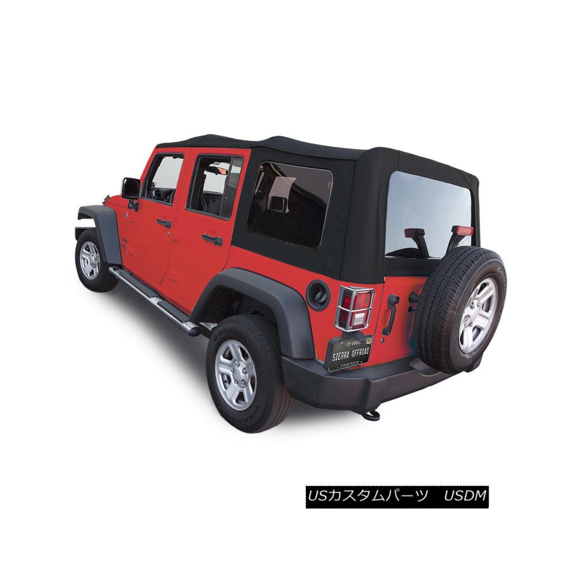幌・ソフトトップ Jeep Wrangler 4 DR JK Soft Top, 2007-09, Tinted Windows, Black Twill ジープ・ラングラー4 DR JKソフトトップ、2007-09、ティンテッド・ウィンドウズ、ブラック・ツイル