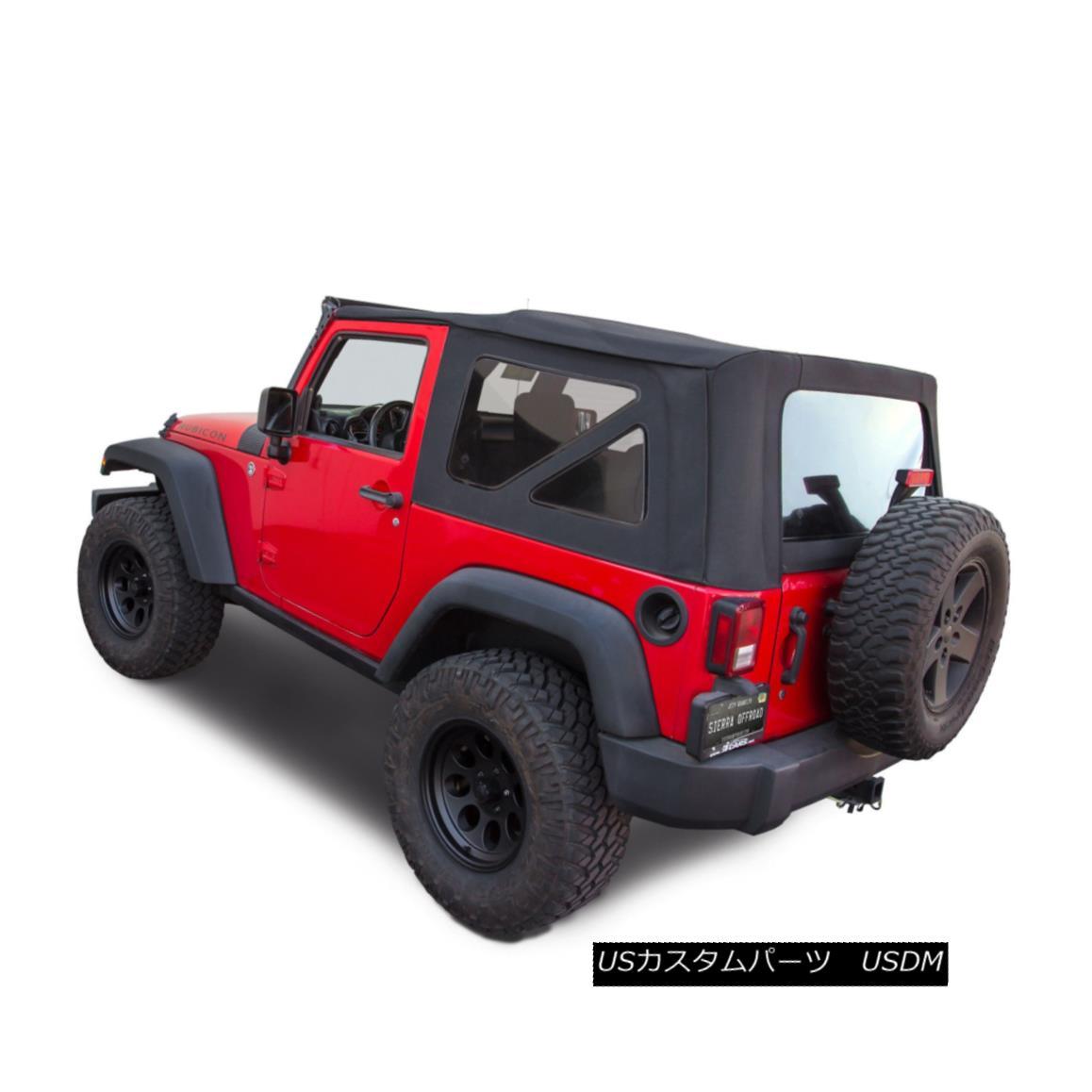 幌・ソフトトップ Jeep Wrangler JK Soft Top, 2010-17, Press Polish Windows, Black Twill Canvas ジープラングラーJKソフトトップ、2010-17、プレスポーランドのWindows、ブラックツイルキャンバス