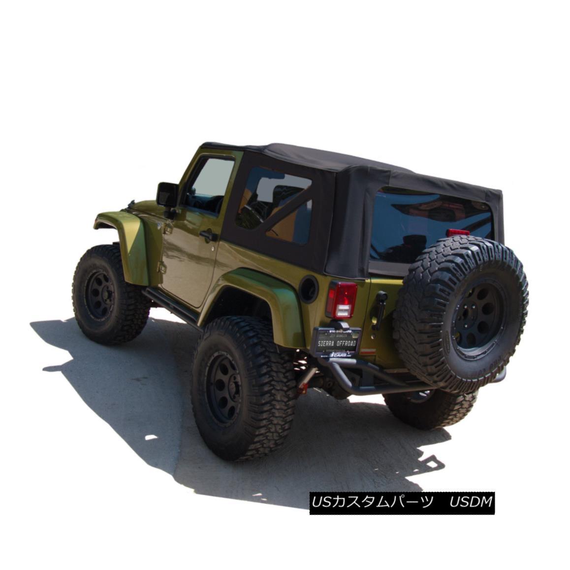 幌・ソフトトップ Jeep Wrangler JK Soft Top, 2007-09, Press Polish Windows, Black Twill Canvas ジープラングラーJKソフトトップ、2007-09、プレスポーランドのWindows、ブラックツイルキャンバス
