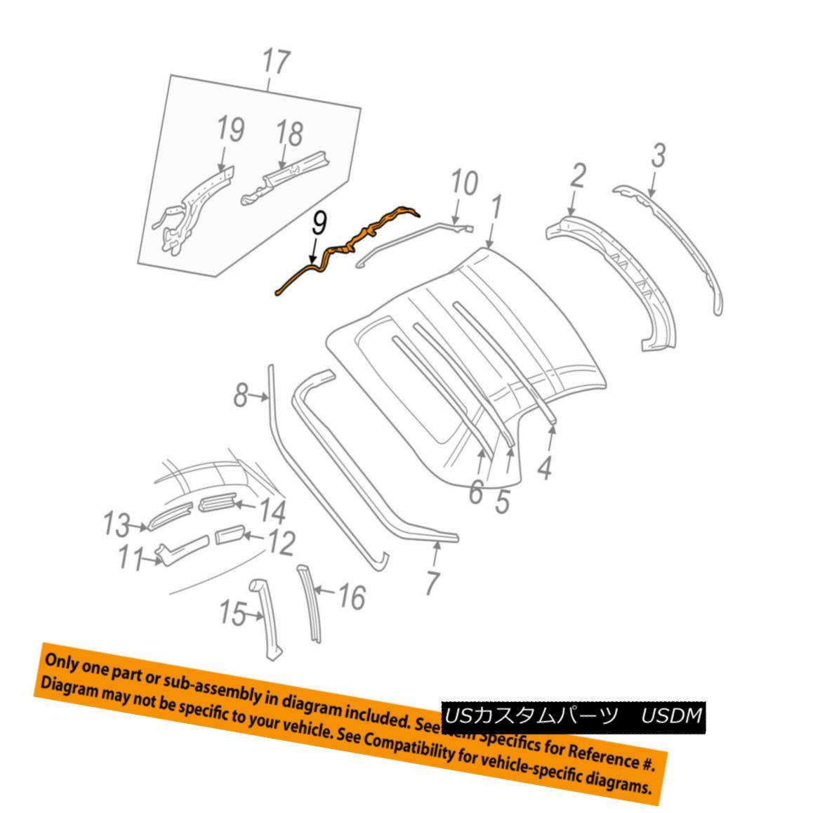 幌・ソフトトップ Chevrolet GM OEM 98-04 Corvette Convertible/soft Top-Link 88955142 シボレーGM OEM 98-04コルベットコンバーチブル/ so ftトップリンク88955142