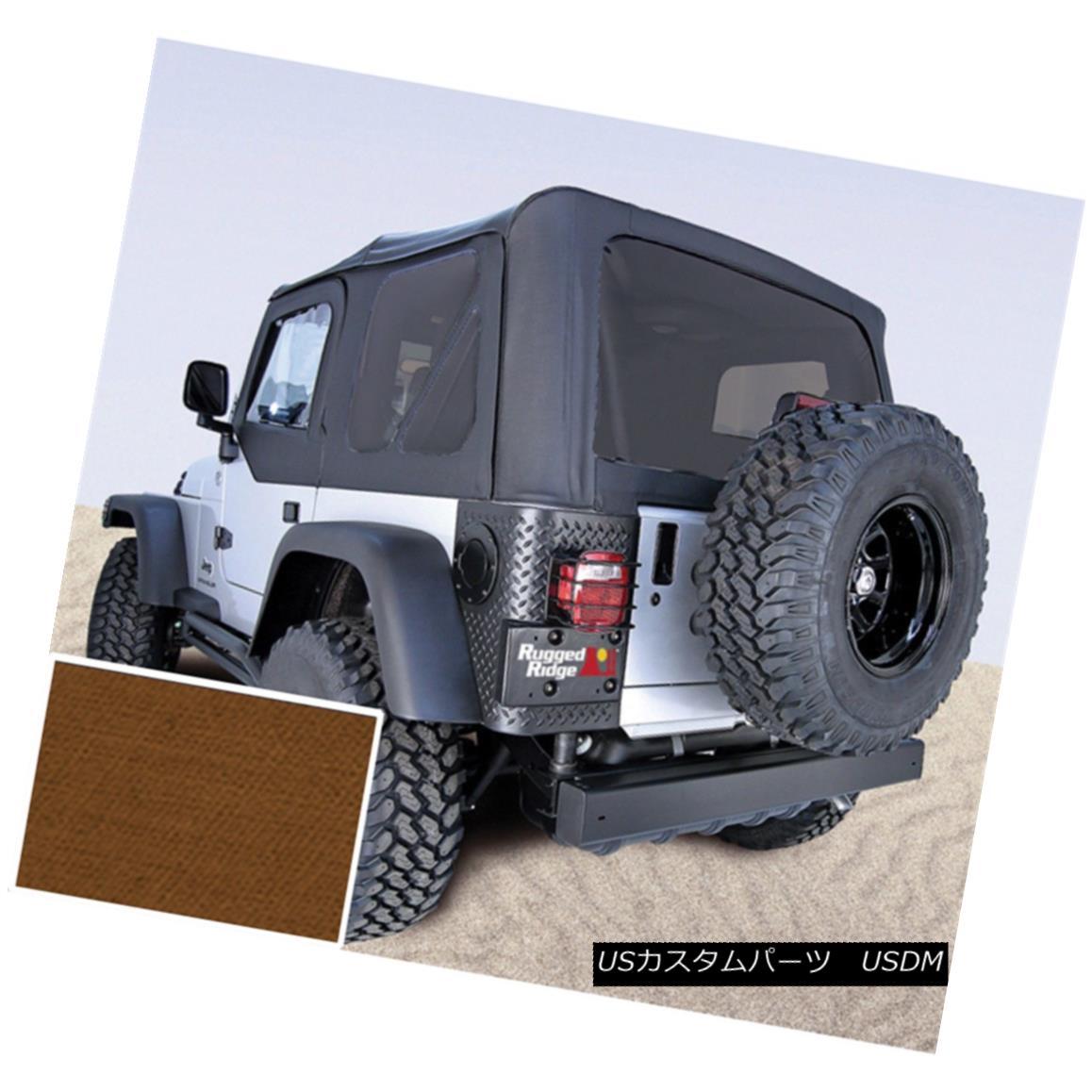 幌・ソフトトップ Rugged Ridge 13726.33 Replacement Soft Top Fits 97-02 Wrangler (TJ) 頑丈なリッジ13726.33交換用ソフトトップフィット97-02ラングラー(TJ)