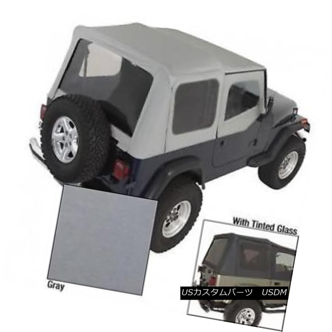 幌・ソフトトップ Rugged Ridge Charcoal Replacement Soft Top 1988-1995 Jeep Wrangler YJ W/Tinted 頑丈なリッジチャコール交換ソフトトップ1988-1995ジープラングラーYJ W / Tinted