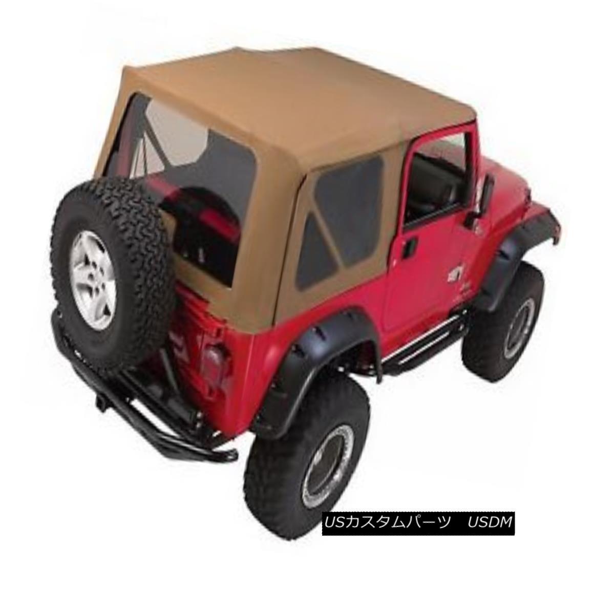 幌・ソフトトップ Rampage 68836 Replacement Soft Top w/ Frame & Hardware 1997-06 Jeep Wrangler, TJ 暴れ68836交換用ソフトトップ/フレーム& ハードウェア1997-06ジープ・ラングラー、TJ