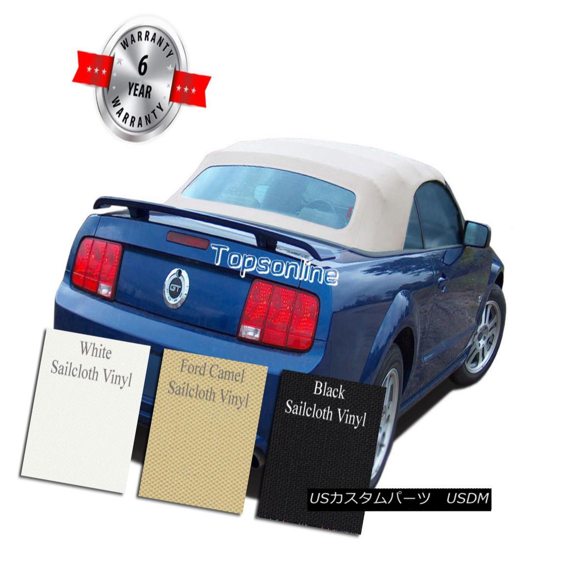 幌・ソフトトップ Ford Mustang Convertible Soft Top With Heated Glass Window Sailcloth Vinyl 05-14 フォード・マスタング・コンバーチブル・ソフト・トップ・ヒート・ガラス・ウィンドウ・セーラークロス・ビニール05-14