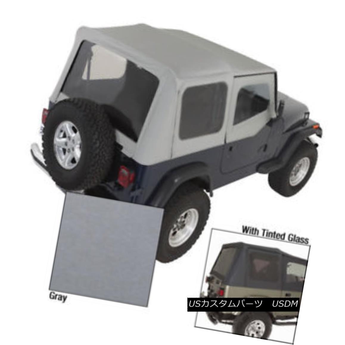 幌・ソフトトップ Rugged Ridge 13722.09 XHD Soft Top Charcoal Tinted Window 88-95 Jeep Wrangler Rugged Ridge 13722.09 XHDソフトトップチャコールティンテッドウィンドウ88-95ジープラングラー