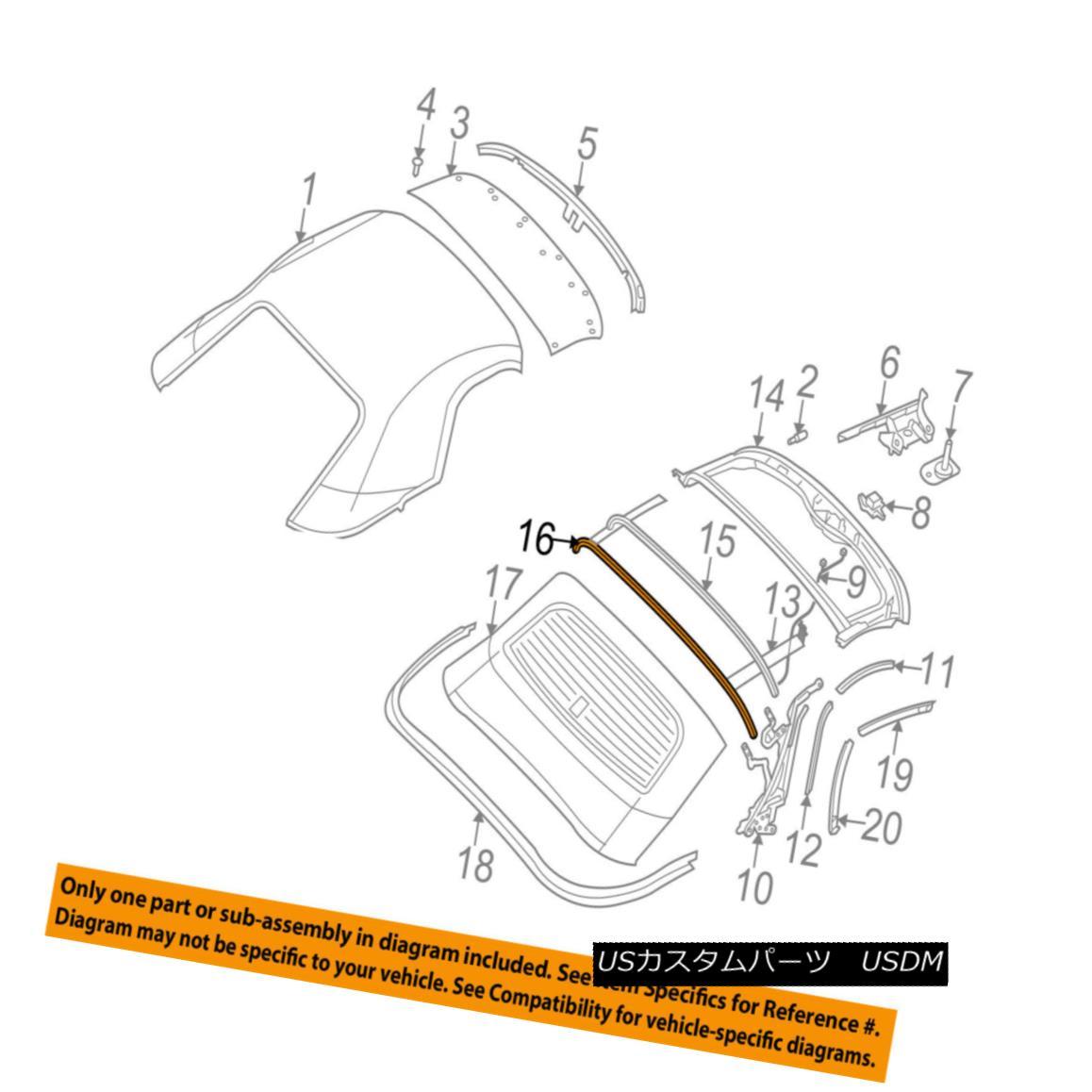 幌・ソフトトップ Dodge CHRYSLER OEM 03-06 Viper Convertible/soft Top-Bow 5029131AB Dodge CHRYSLER OEM 03-06バイパー・コンバーチブル/ so ft Top-Bow 5029131AB