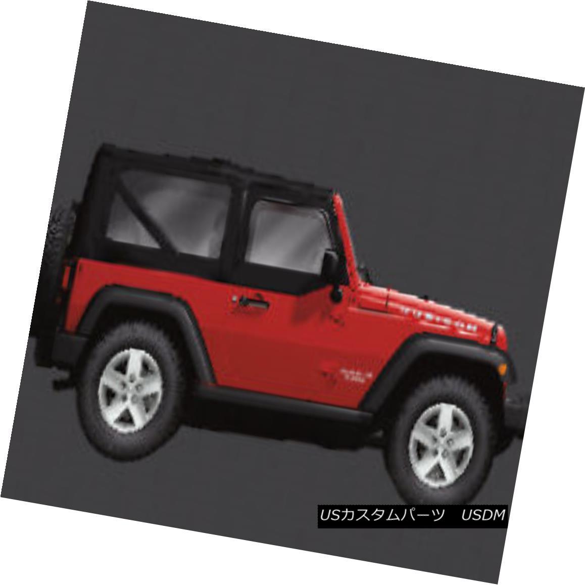 幌・ソフトトップ 2007-2018 Jeep Wrangler 4 Door Soft Top Sunrider Design Tinted Oem New Mopar 2007-2018ジープ・ラングラー4ドア・ソフトトップサンライダー・デザイン・ティンテッド・オーム・ニュー・モパー