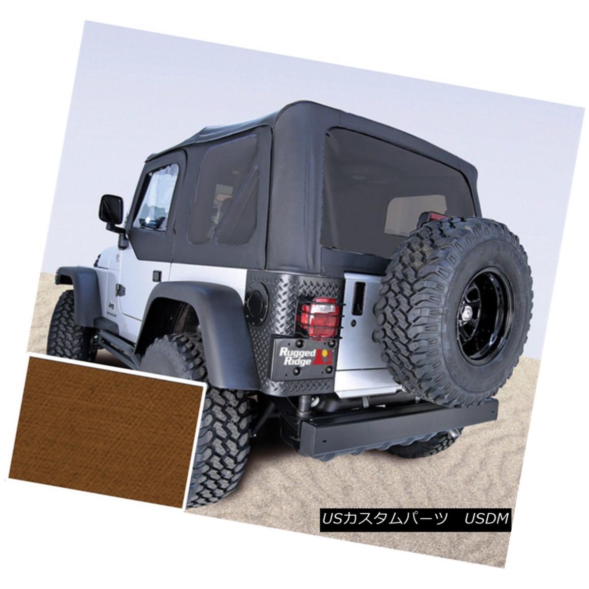 幌・ソフトトップ Rugged Ridge 13724.33 Replacement Soft Top Fits 97-02 Wrangler (TJ) 頑丈なリッジ13724.33交換用ソフトトップフィット97-02ラングラー(TJ)