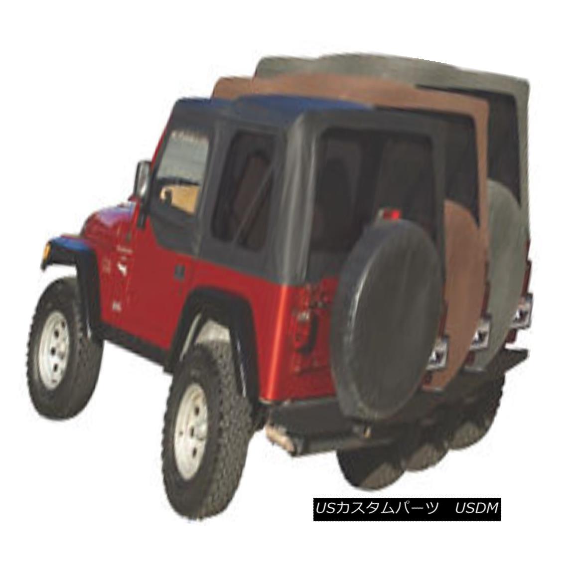 幌・ソフトトップ Rampage Factory Replacement Soft Top 97-06 Jeep Wrangler TJ 99735 Black Diamond Rampage Factory Replacementソフトトップ97-06ジープラングラーTJ 99735 Black Diamond