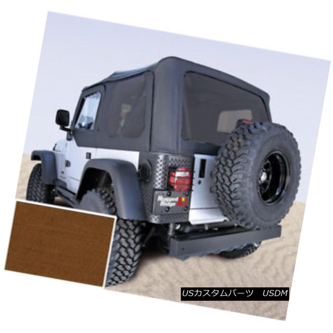 幌・ソフトトップ Rugged Ridge 13706.33 Soft Top Dark Tan Tinted Windows 97-02 Jeep Wrangler 頑丈なリッジ13706.33ソフトトップダークタンティントドWindows 97-02ジープラングラー