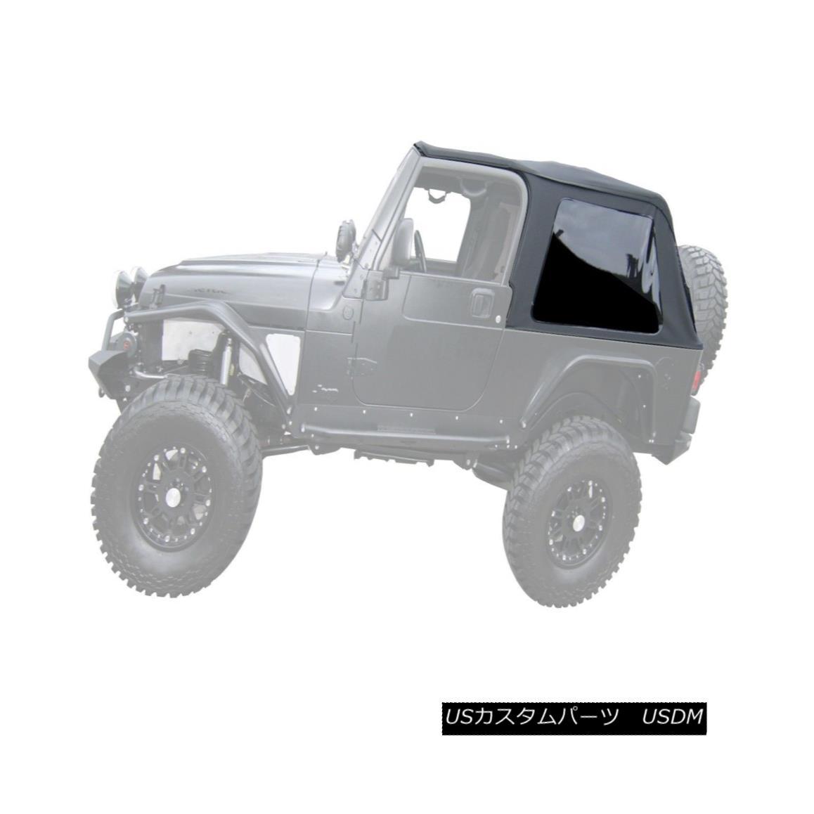 幌・ソフトトップ Rampage 109635 Frameless Soft Top Kit Sailcloth Fits 04-06 Wrangler (LJ) Rampage 109635フレームレスソフトトップキットSailcloth Fits 04-06 Wrangler(LJ)