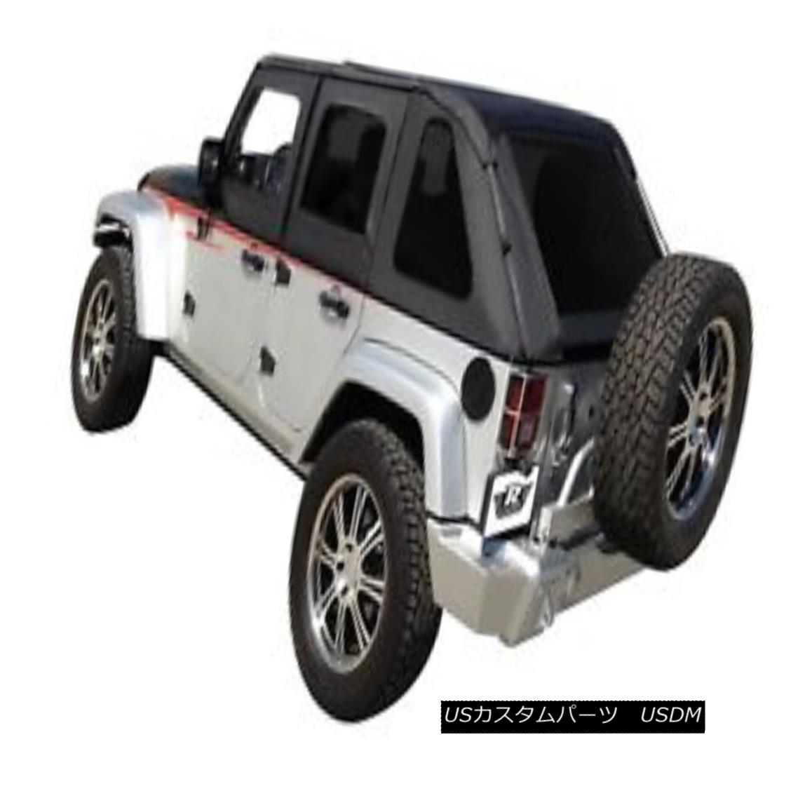 幌・ソフトトップ Rampage 109835 Frameless Soft Top Kit Sailcloth Fits 07-18 Wrangler (JK) ランペイジ109835フレームレスソフトトップキットセールローツ07-18ラングラー(JK)