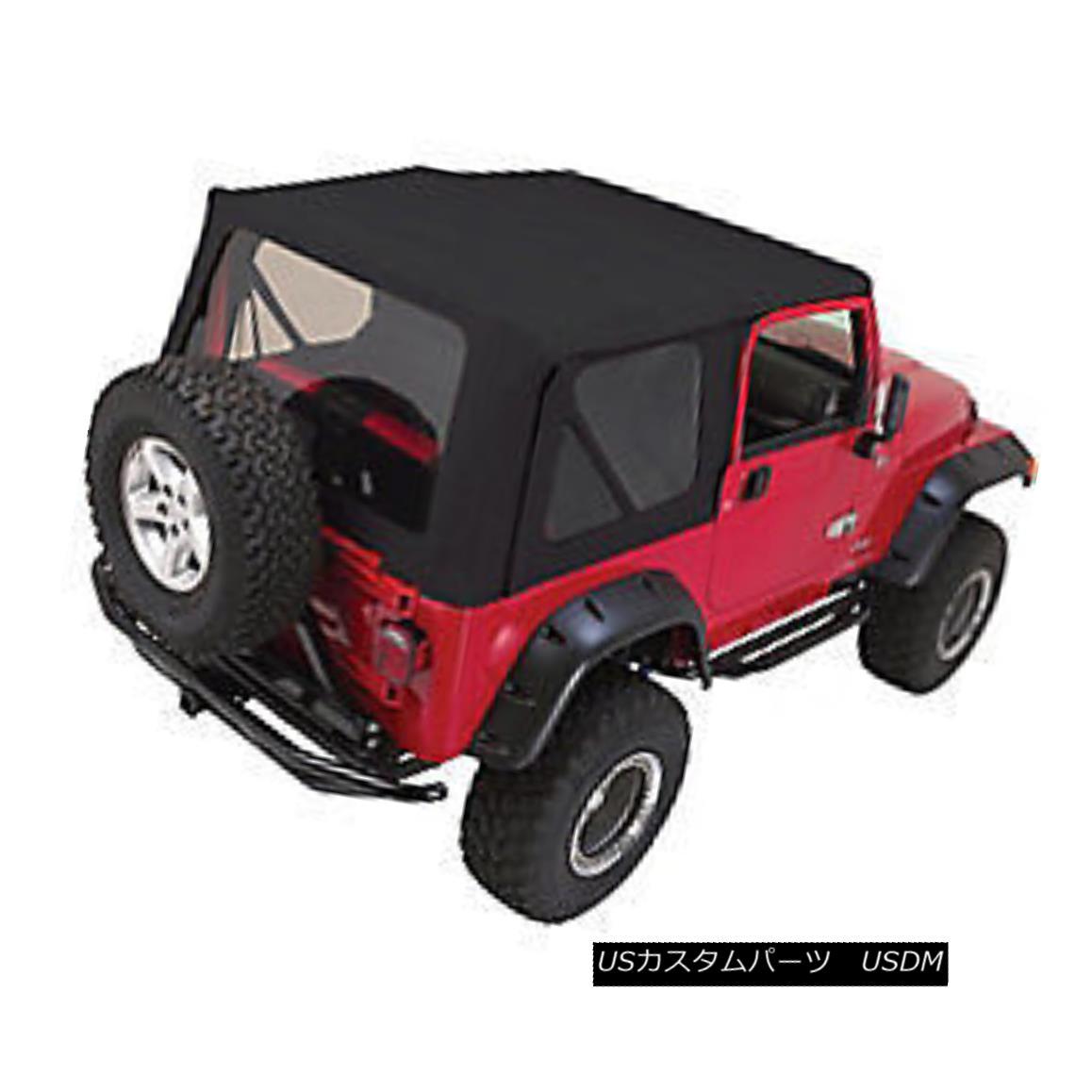 幌・ソフトトップ Rampage Factory Replacement Soft Top 97-06 Jeep Wrangler TJ 99335 Black Diamond Rampage Factory Replacementソフトトップ97-06ジープラングラーTJ 99335 Black Diamond