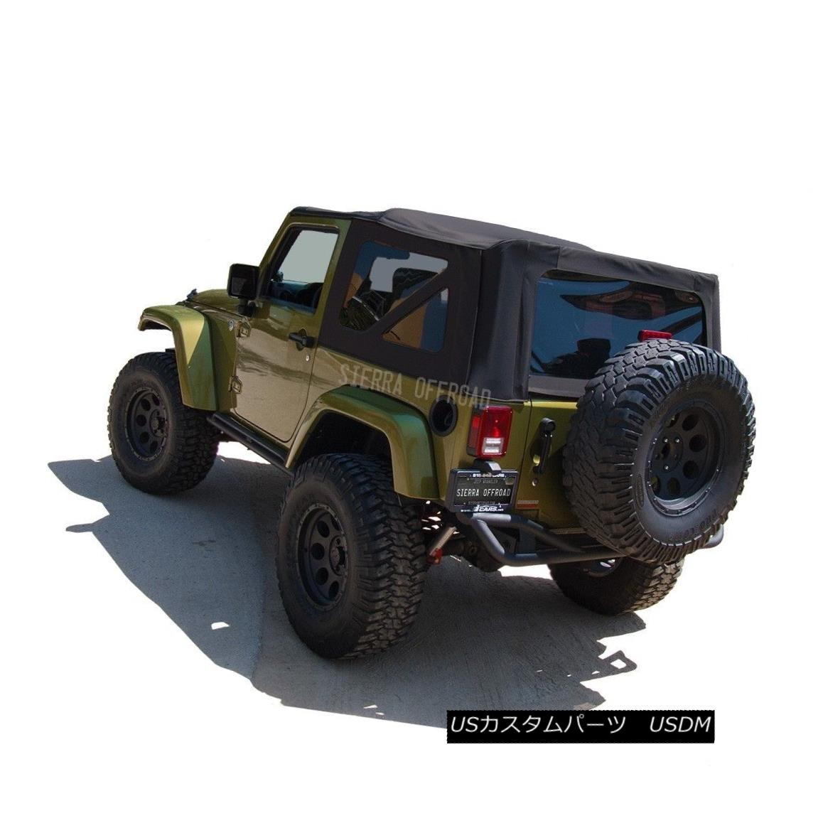 幌・ソフトトップ 2010-2017 Jeep Wrangler 2 DR JK Soft Top, Black Sailcloth 2010-2017ジープラングラー2 DR JKソフトトップ、ブラックセイルクロス