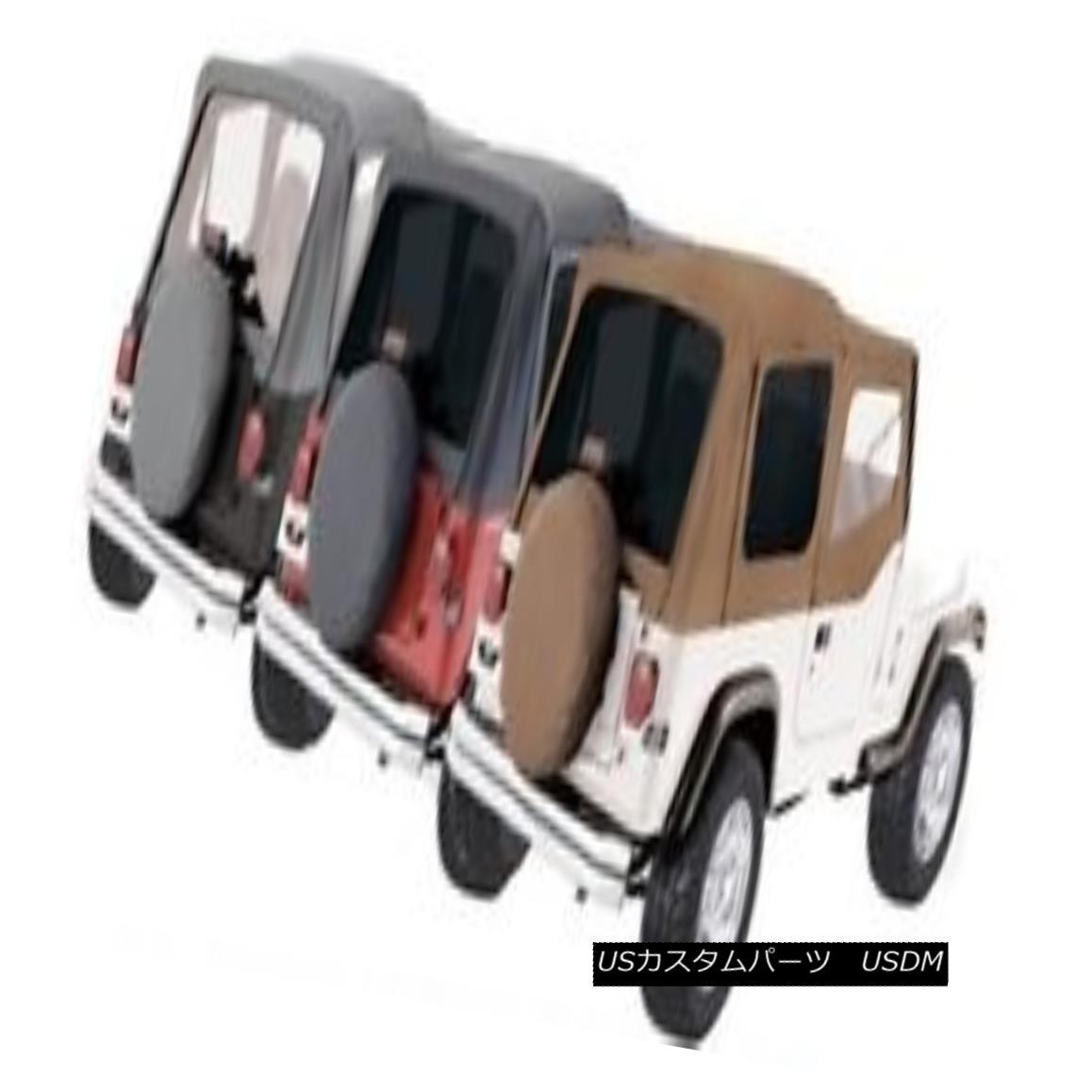 幌・ソフトトップ Rampage Factory Replacement Soft Top 88-95 Jeep Wrangler YJ 99615 Denim Black Rampage Factory Replacementソフトトップ88-95ジープラングラーYJ 99615デニムブラック