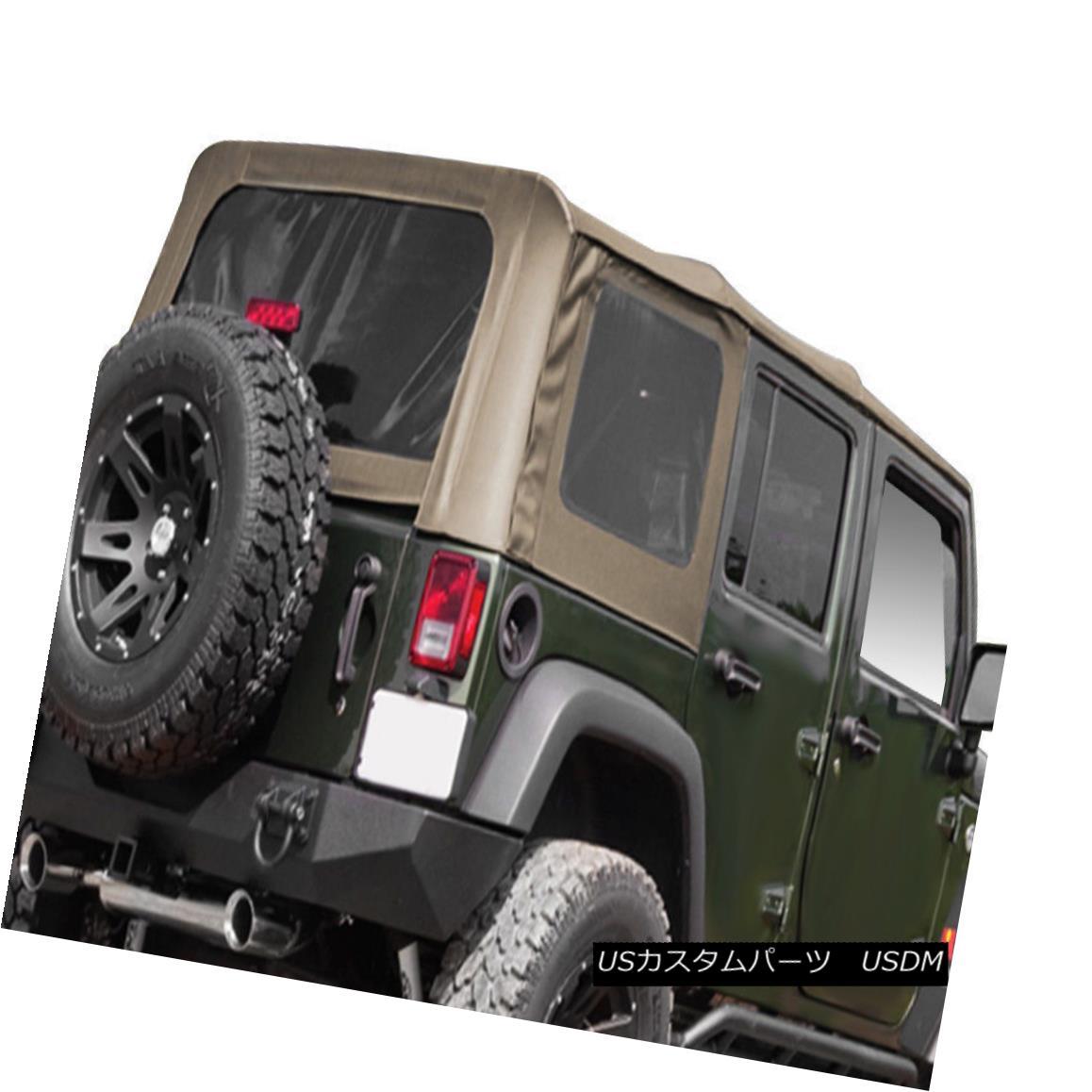 幌・ソフトトップ Rugged Ridge 13741.36 Soft Top w/Tinted Windows w/o Door Skins Jeep Wrangler 4DR 頑丈な尾根13741.36ソフトトップ、ティンテッドウィンドウ(ドアスキンなし)ジープラングラー4DR