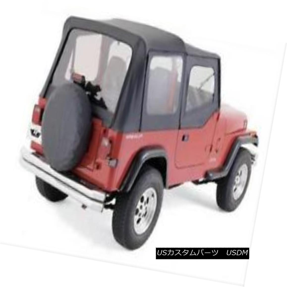 幌・ソフトトップ Rampage 99615 Replacement Denim Black Soft Top 88-95 Jeep Wrangler NO DOORS ランペイジ99615交換用デニムブラックソフトトップ88-95ジープラングラーNO DOORS