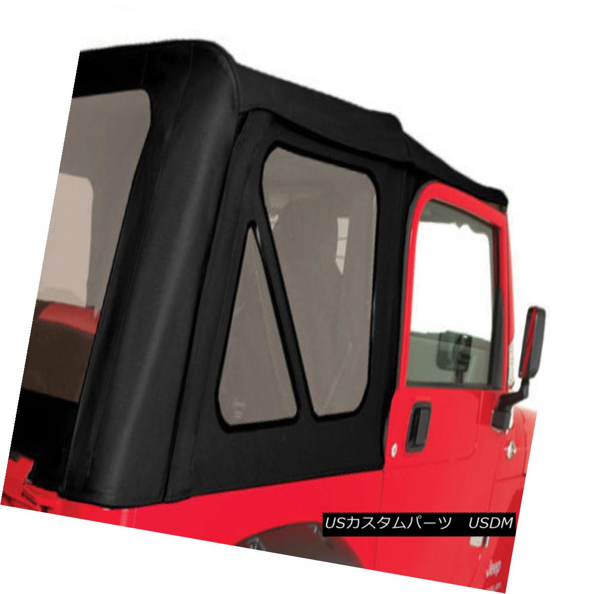 幌・ソフトトップ Rampage 99715 Soft Top Replacement Black w/ Soft Upper Doors for 97-06 Wrangler ランペイジ99715ソフトトッププロテクターブラック、ソフトアッパードア付き97-06ラングラー