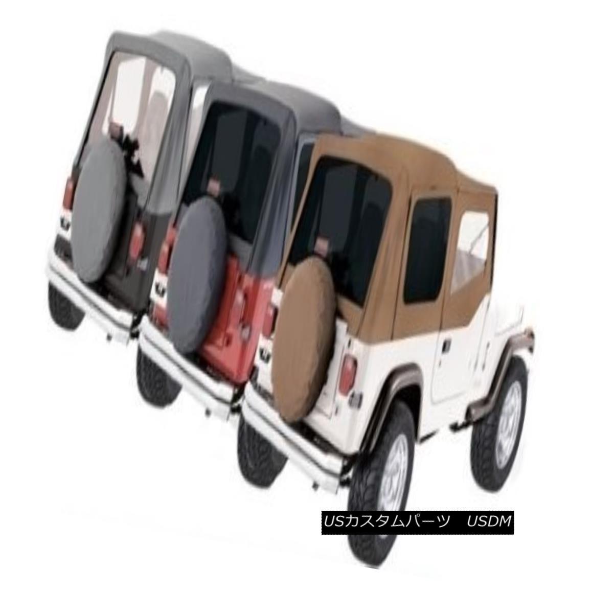 幌・ソフトトップ Rampage Factory Replacement Soft Top 88-95 Jeep Wrangler YJ 99611 Gray Rampage Factory Replacementソフトトップ88-95ジープラングラーYJ 99611グレー