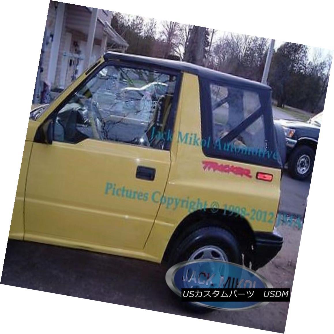 幌・ソフトトップ 1995-1998 Suzuki Sidekick Geo Tracker Replacement Soft Top Black Clear Windows 1995-1998スズキサイドキックジオトラッカー交換ソフトトップブラッククリアウィンドウ