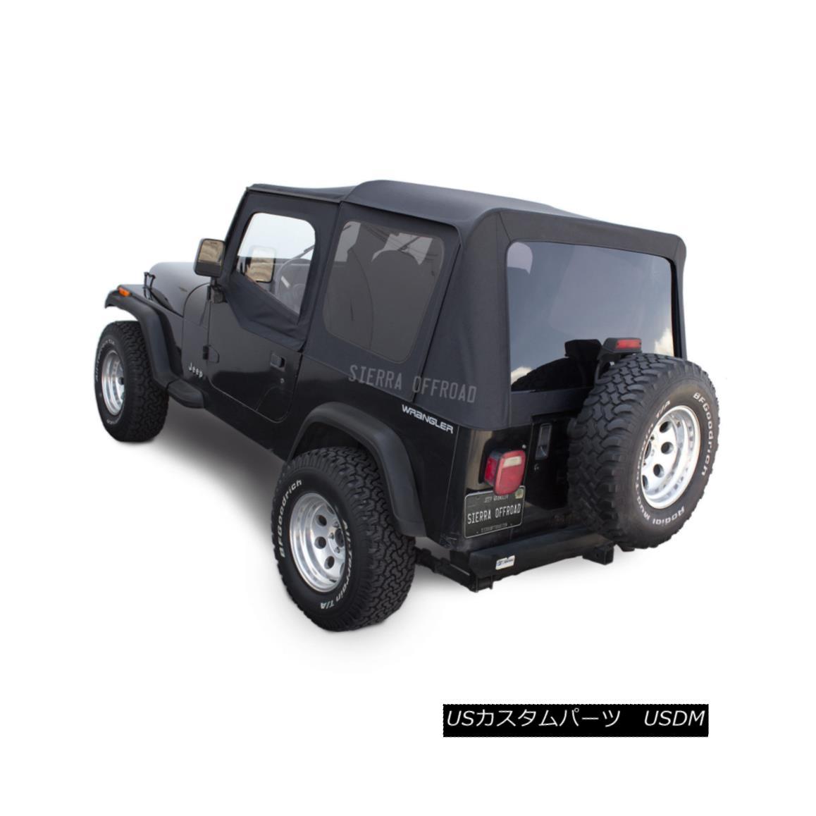 幌・ソフトトップ Jeep Wrangler YJ Soft Top 88-95, Black Denim, Tinted Windows, Upper Doors ジープラングラーYJソフトトップ88-95、ブラックデニム、ティンテッドウインドウ、アッパードア