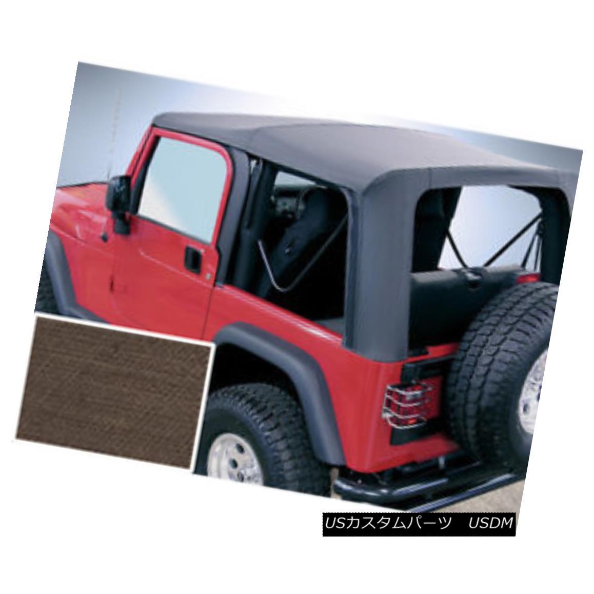 幌・ソフトトップ Rugged Ridge 13709.36 Soft Top Khaki Clear Windows 03-06 Jeep Wrangler Rugged Ridge 13709.36ソフトトップカーキクリアウィンドウ03-06ジープラングラー