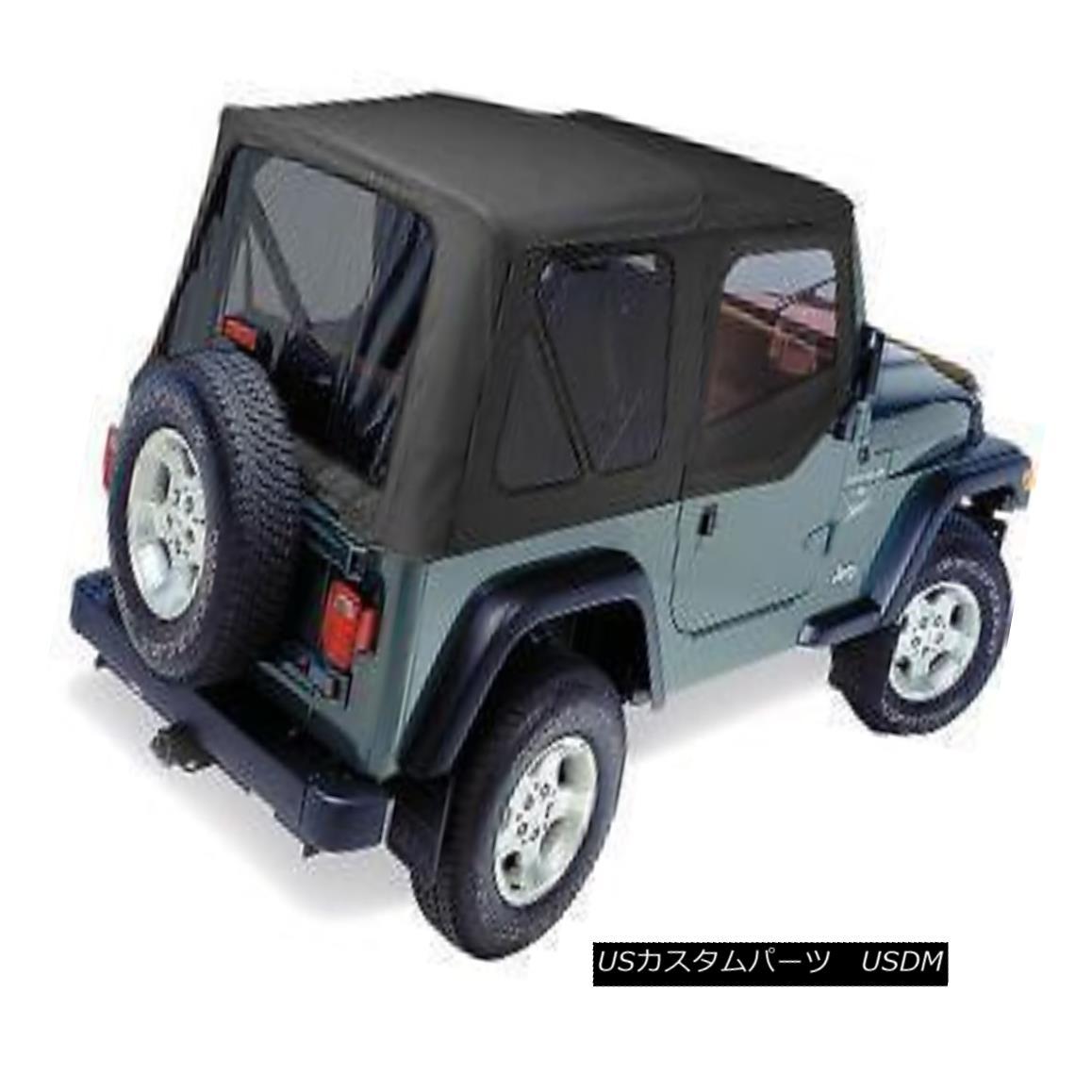 幌・ソフトトップ Pavement Ends Replay Top 97-06 Jeep Wrangler TJ Tinted w/ Skins Black Diamond 舗装終了リプレイTop 97-06ジープ・ラングラーTJティンテッド・ウィズ/スキン・ブラック・ダイヤモンド