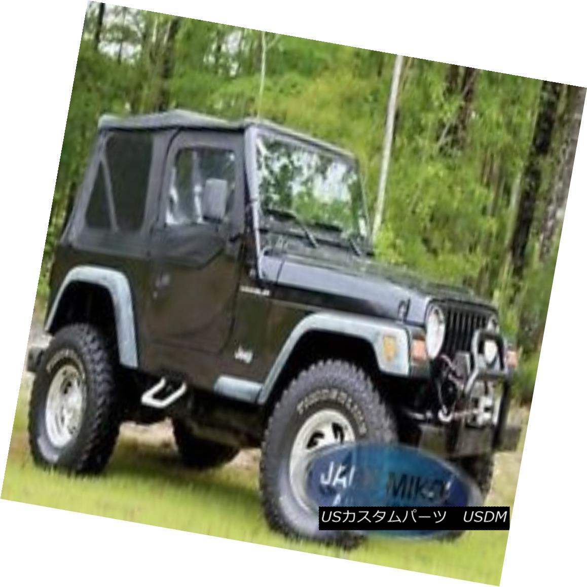 幌・ソフトトップ Black 97-06 Jeep Wrangler Soft Top + Upper Skins 黒97-06ジープラングラーソフトトップ+アッパースキン
